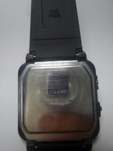 raro e lindo relógio casio game gs-16 - maquina do tempo