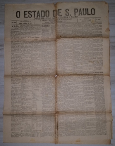 raro jornal o estado de são paulo  24 de julho de 1901