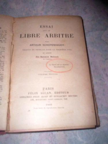 raro livre arbítrio arthur schopenhauer 1909