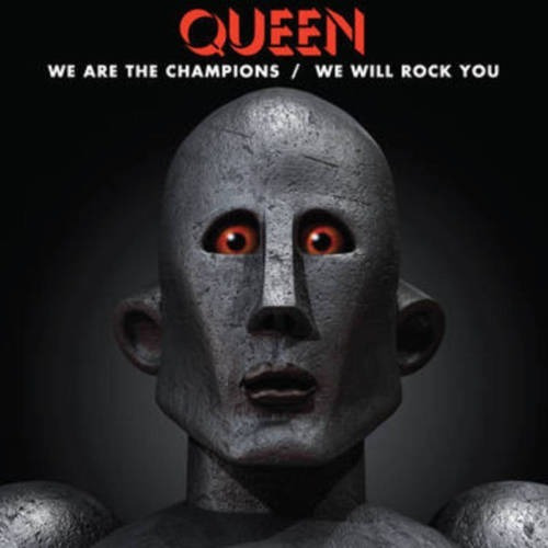 raro: lp queen we are the champions / we will rock you 12