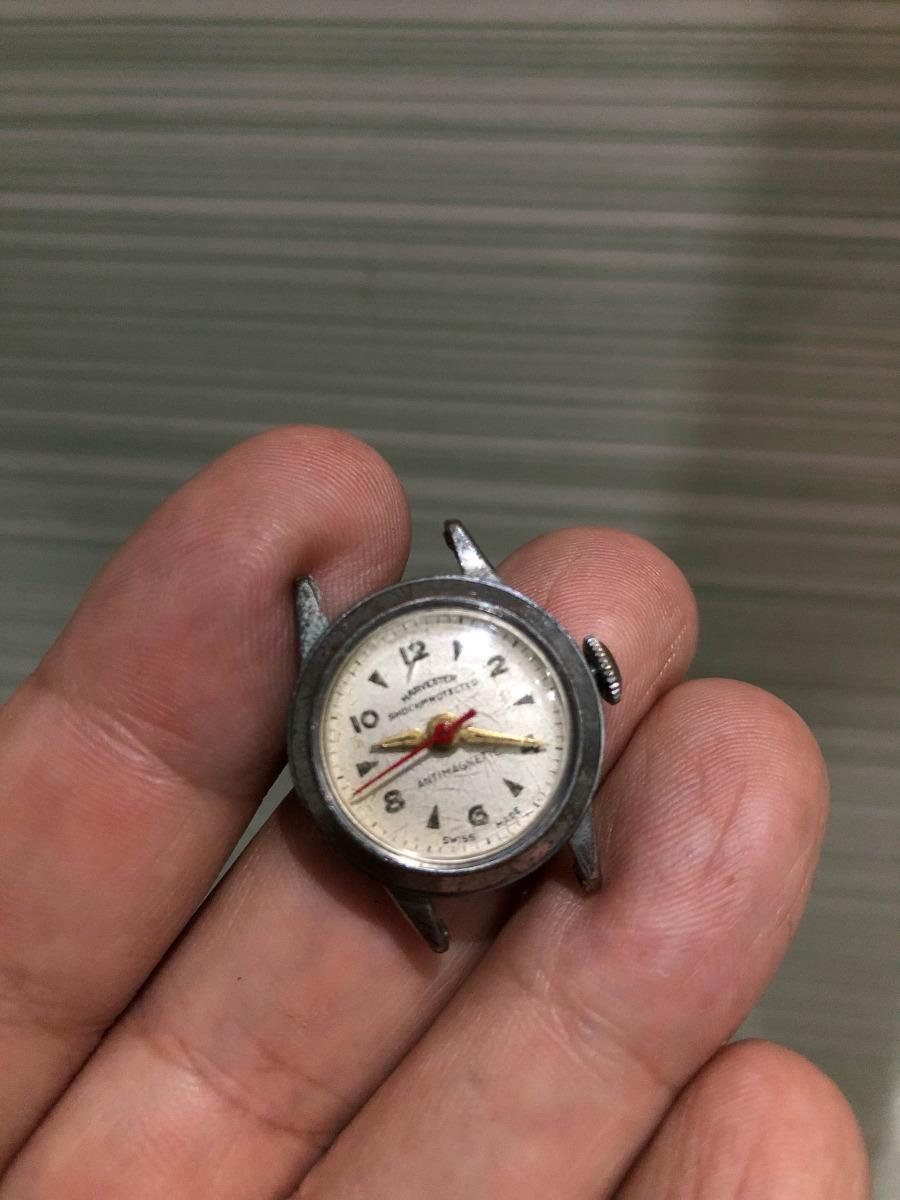 4f01d2459f4 Raro Mini Relógio Antigo De Pulso Feminino Corda 2