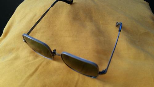 raro óculos de lentes quadradas verde escuro