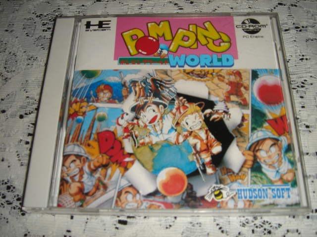Raro Pom Ping World Pc Engine Super Cd Rom 2 Completo