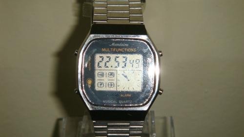 raro relógio mondaine ana digi musical quartz