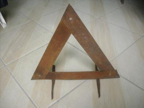 raro triângulo segurança p/automóvel antigo modelo universal
