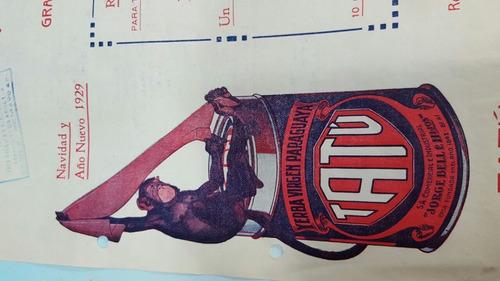 raro y hermoso folleto de yerba tatu 1929