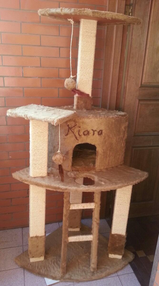 Rascador ara ador para gatos rbol de madera con casa - Casas para gatos de madera ...