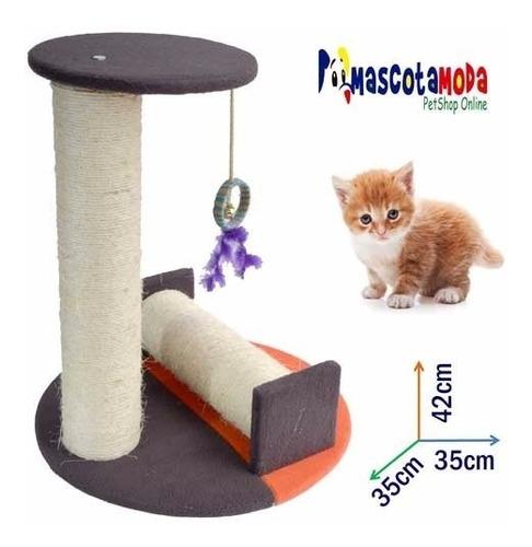 rascador gimnasio para gatos con rodillo sinfin y plataforma