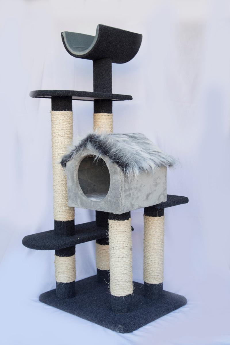 Rascador grande para gatos 4 niveles mts juguete - Mueble arenero para gatos ...
