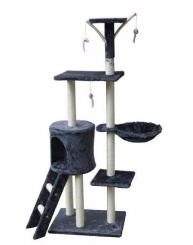 rascador para gatos 1.38mts altura con hamaca y casa pethome