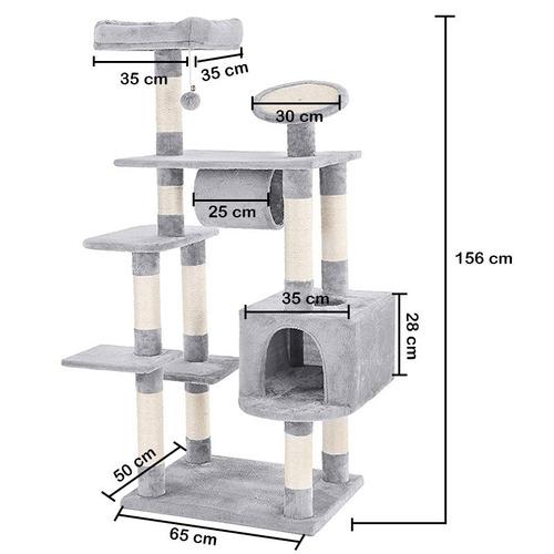 rascador para gatos paradise 1.5 metros de altura pethome