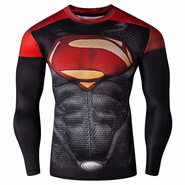 rash guard superman compress227o mma bjj jiu jitsu r 109