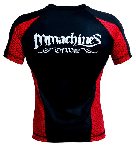 rashguard mmachines logo m wht short sleeve mma bjj talla s