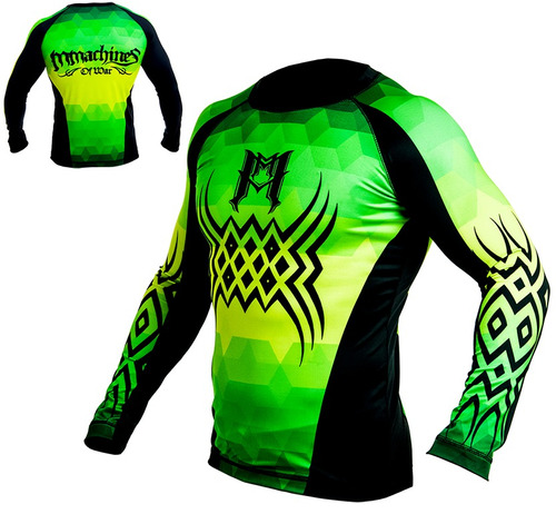 rashguard mmachines of war prisma black long sleeve mma bjj