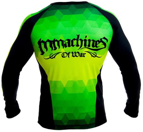rashguard mmachines prisma black long sleeve mma bjj talla l