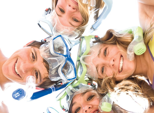 rashguard u.s. divers youth, black-sky blue, 8