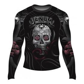 Rashguard Venum Lycra Skull And Roses Submission Mma