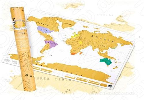 raspa mapa para raspar mundo viaje black edition capitales