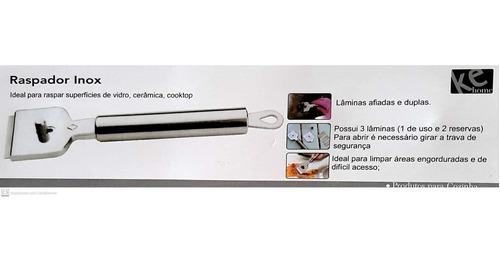 raspador inox raspar superfícies de vidro cerâmica e cooktop