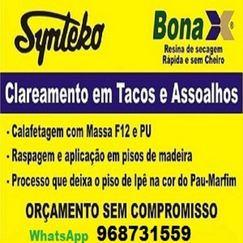 raspagem de tacos assoalhos synteko cascolac bona deck