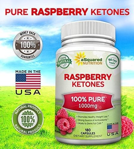 raspberry ketones cetonas de frambuesa. 1000mg. 180 capsulas