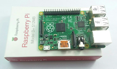 raspberry pi 1 modelo b+ 512mb ram con case