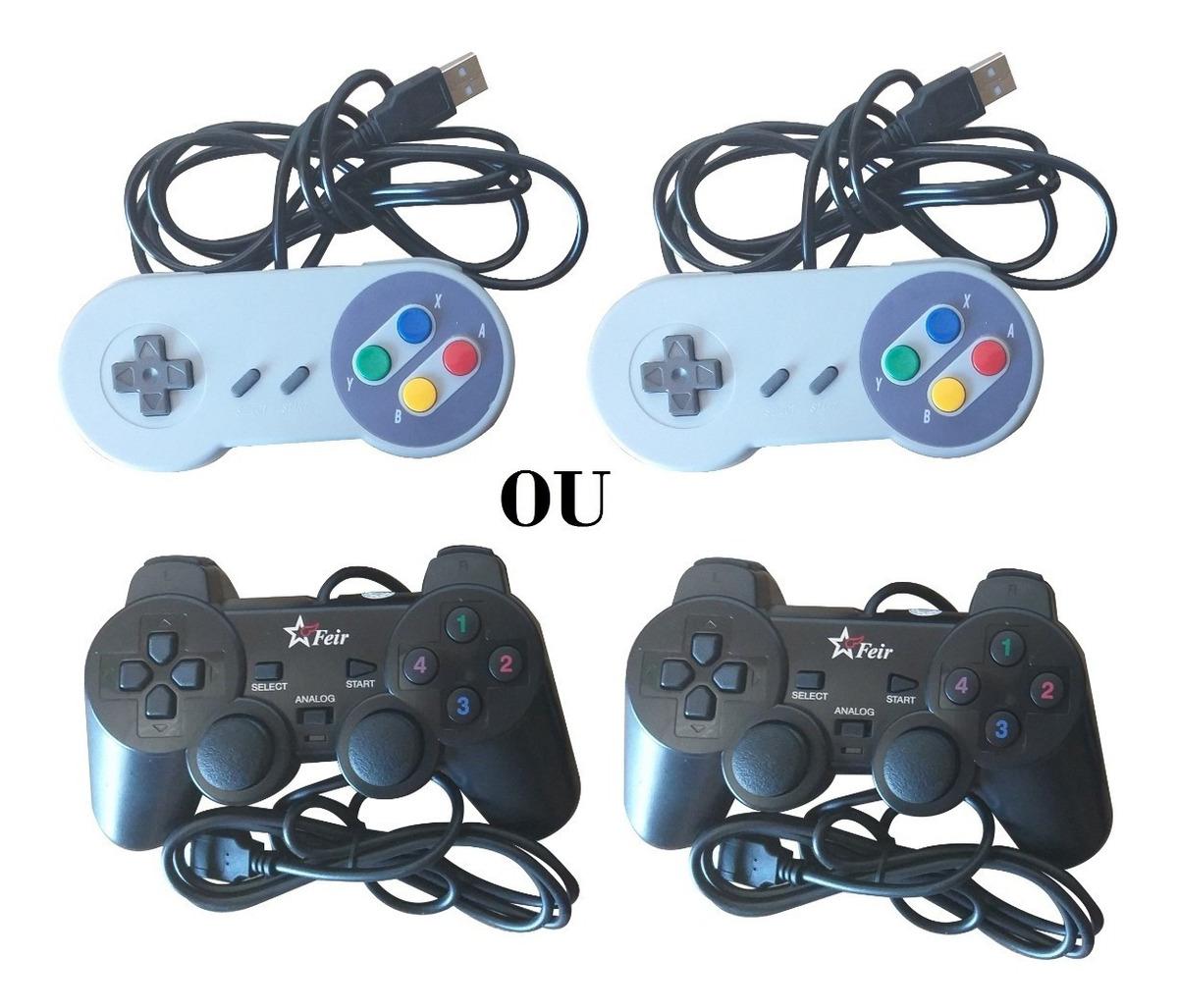 Raspberry Pi 3 B + Plus 2 Controles C/fio 64gb 17752 Jogos