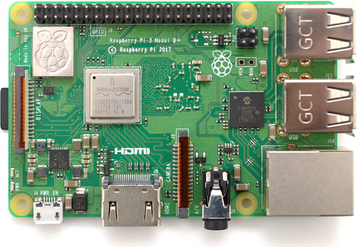 raspberry pi 3 b+ plus made in uk + fuente 2,5a + disip