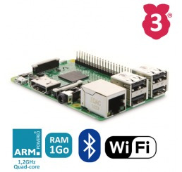 raspberry pi 3 más potente  con wifi y bluetooth integrado