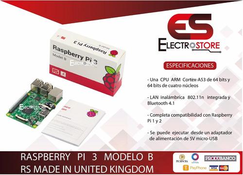 raspberry pi 3 modelo b 100% original rs wifi y bluetooth