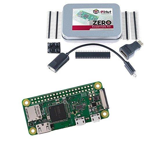 raspberry pi zero w (inalámbrico) y kit essentials cero