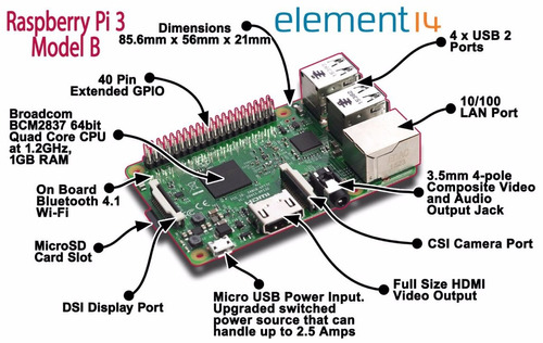 raspberry pi3 pi 3 model b quadcore 1.2ghz na caixa