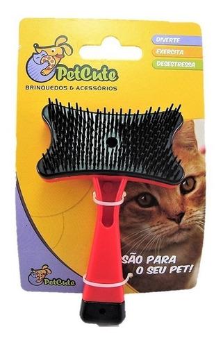 rasqueadeira auto limpante p/ gato pet cute