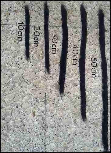 rastas rubias de 60cm. con instrucciones de colocacion