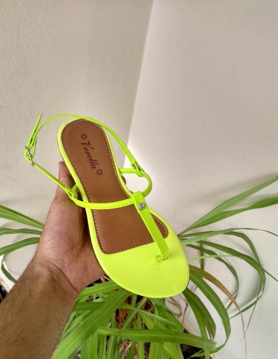 4864ef2553 rasteira flat neon- verde limão varejo. Carregando zoom.