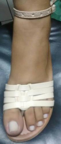 rasteirinha fechada chinelo feminina menina kit com 15 pares