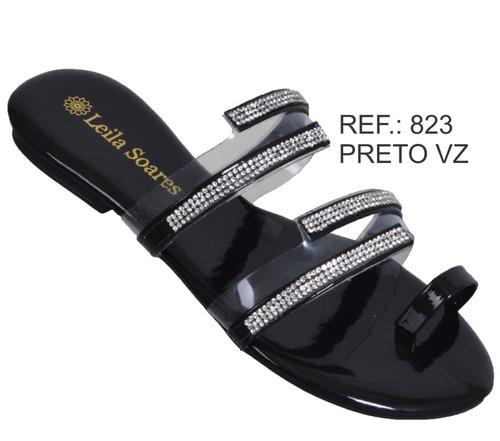 rasteirinha feminina strass sandália moda original promo 823