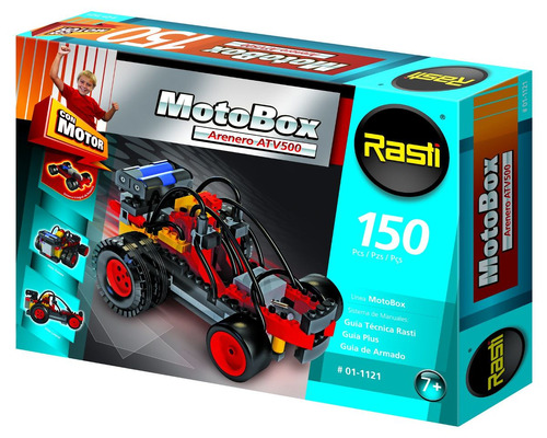 rasti arenero c/ motor 150 piezas motobox construccion edu