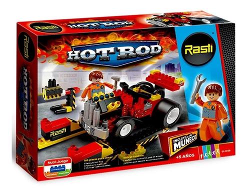 rasti auto hot rod y mecanico 185 piezas 01-1068 educando