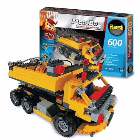 rasti motobox camión minero 600 piezas - tienda oficial -