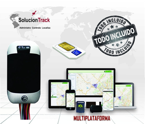 rastreador automovil gps tracker localizador+chip+app movil