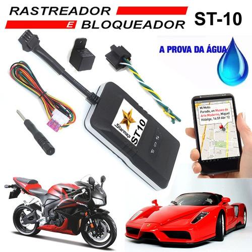 rastreador bloqueador veicular carro moto - starmap st10