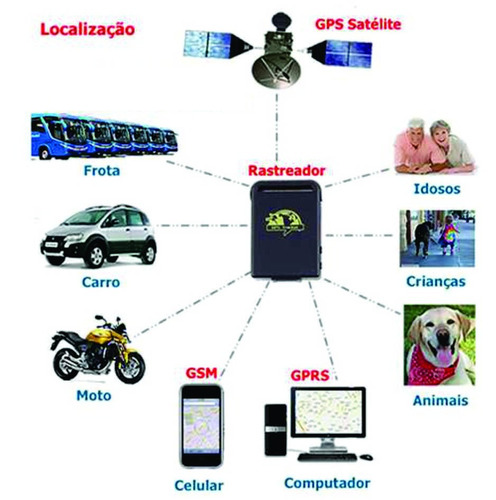 rastreador carro e moto gps localizador tk102b original