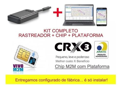 rastreador concox crx3n + chip m2m e plataforma mensal.
