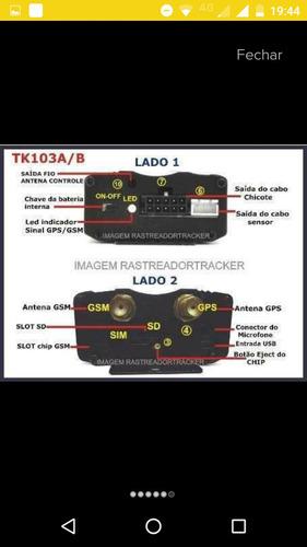 rastreador  e bloqueador tk103b