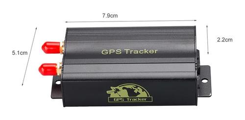 rastreador e bloquedor veicular com controle remoto tk103b