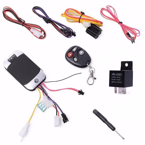 rastreador gps e bloqueador veicular tk-303g + controle