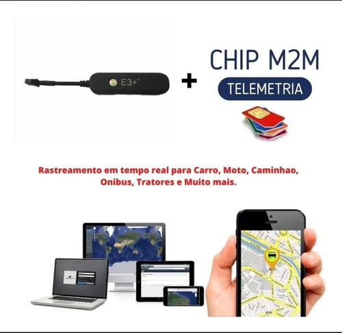 rastreador gps véicular + chip m2m em tempo real.
