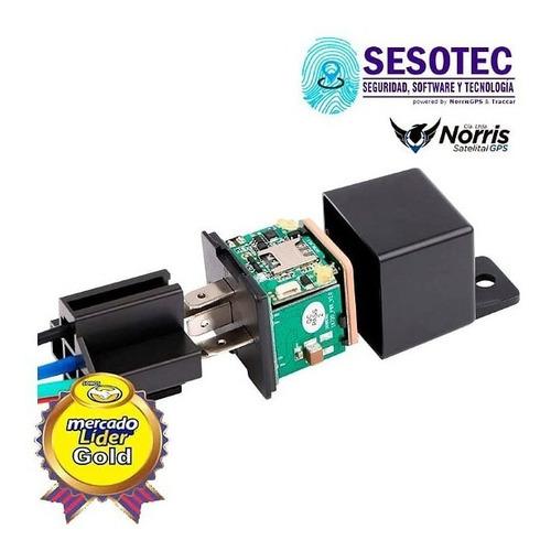 rastreador satelital gps tipo relay con bloqueo y acc