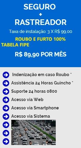 rastreador + seguro - assistencia 24 horas - roubo - furto